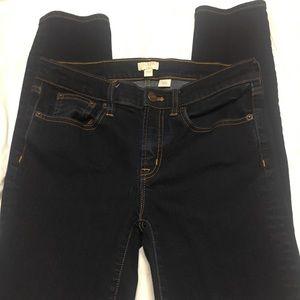 Rinse wash mid rise J Crew Factory Skinny Jean